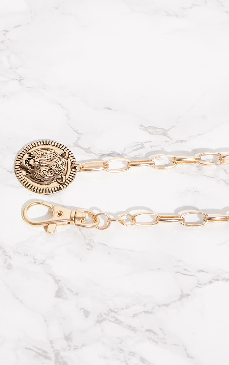 Gold Tiger Coin Chain Belt 6