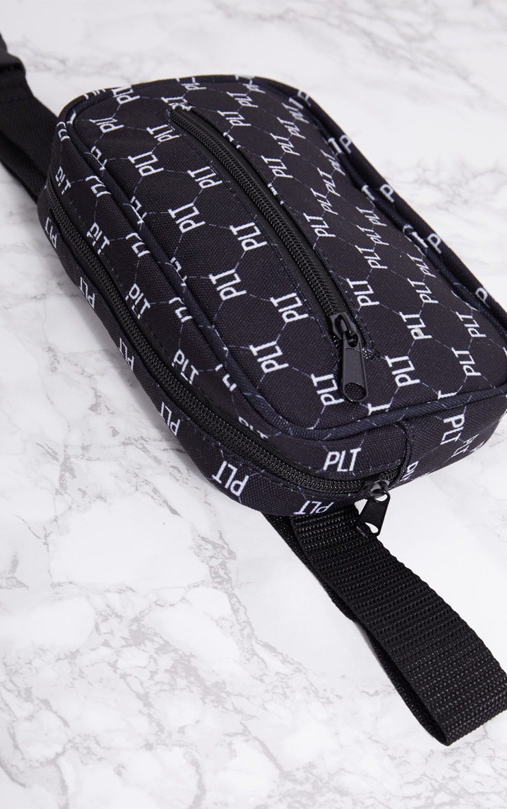 PRETTYLITTLETHING Black Logo Bum Bag 5
