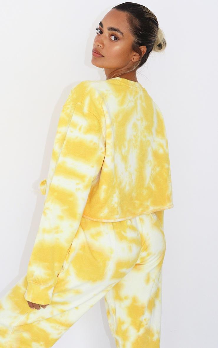 Petite Orange Tie Dye Cropped Sweater 2