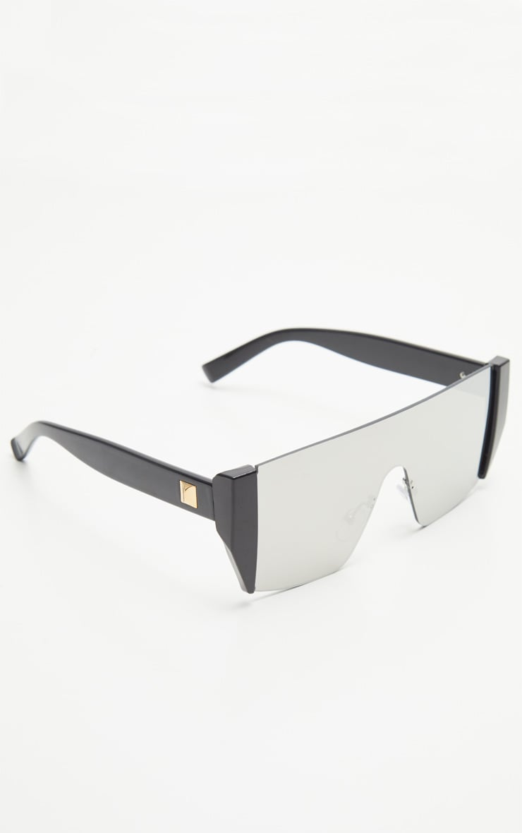 Silver Flat Top Statement Sunglasses 2