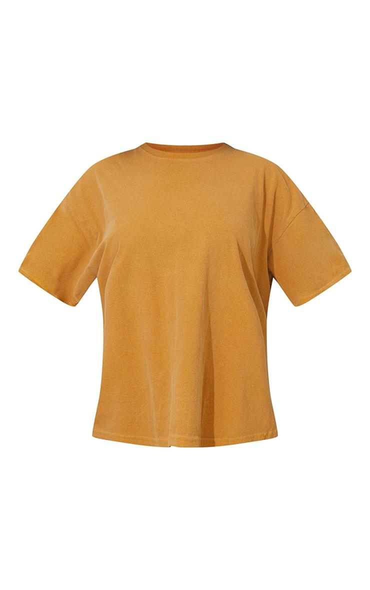 Yellow Washed Oversized T Shirt 5
