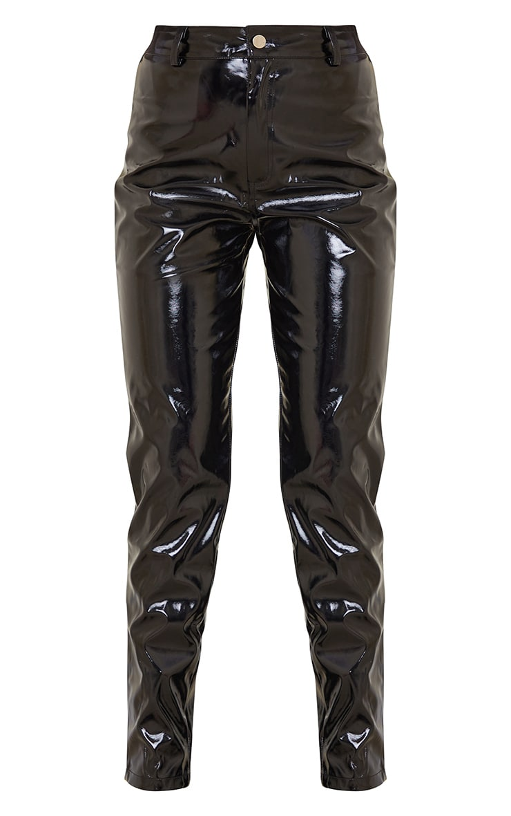 Black Skinny Vinyl Pants 5