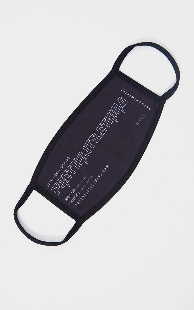 PRETTYLITTLETHING New Season Black Fashion Mask 1