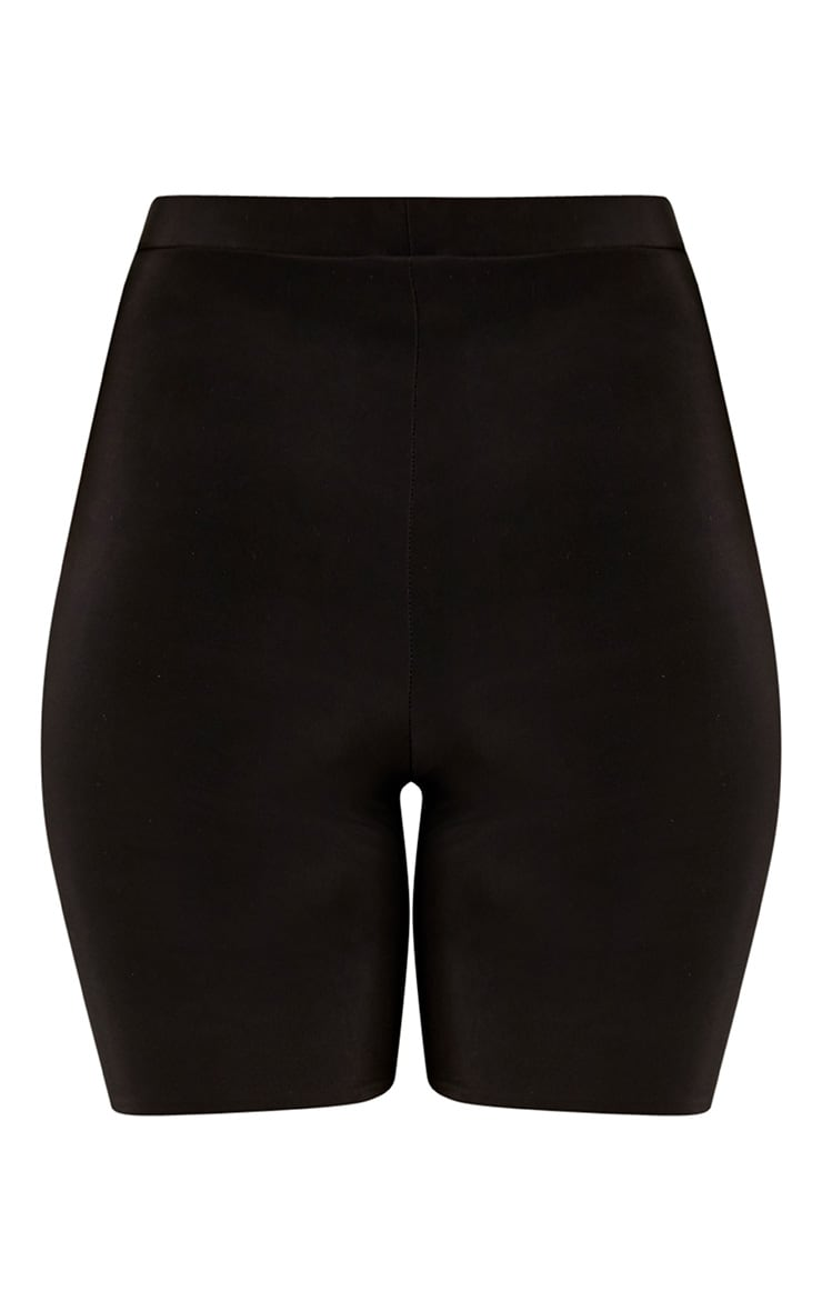Bella Black Slinky High Waisted Bike Shorts 2