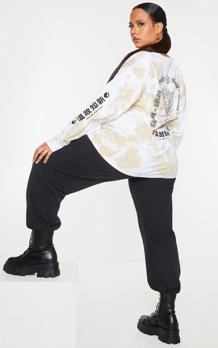 Plus Stone Tie Dye Tokyo Long Sleeve T-Shirt 1