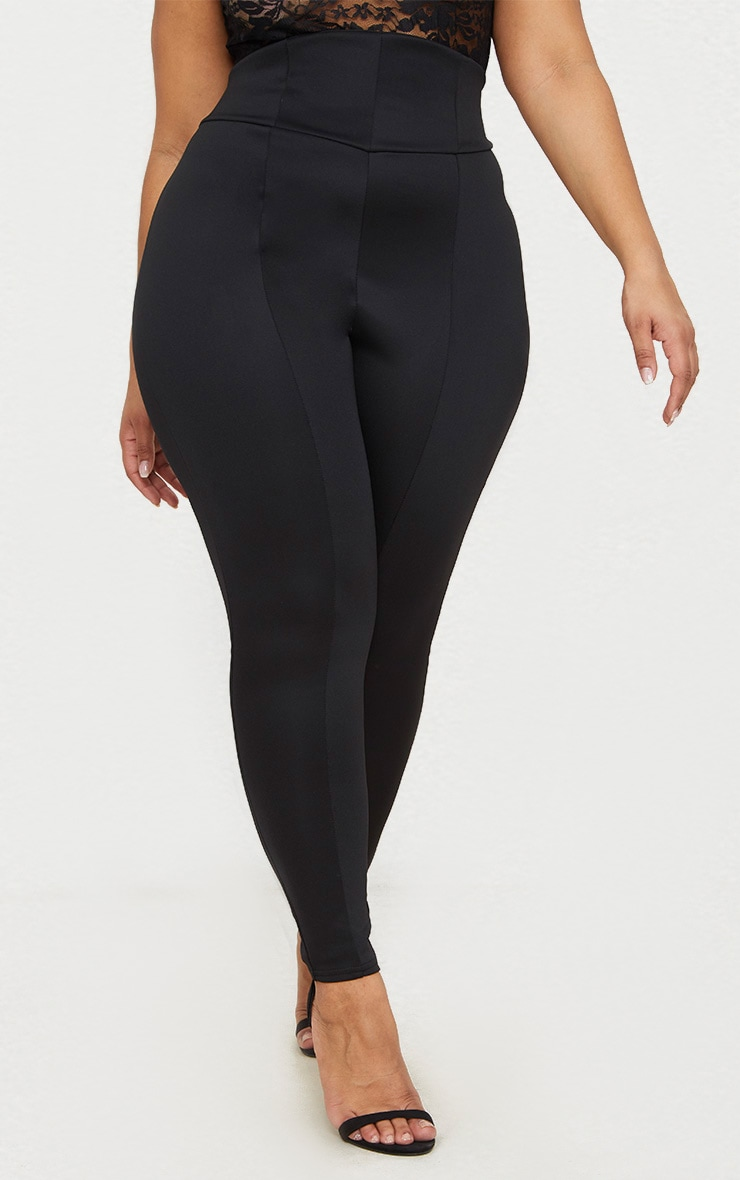 Plus Black Extreme High Waist Leggings 2
