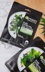 Garnier Charcoal and Black Tea Purifying and Hydrating Skin Sheet Mask 1