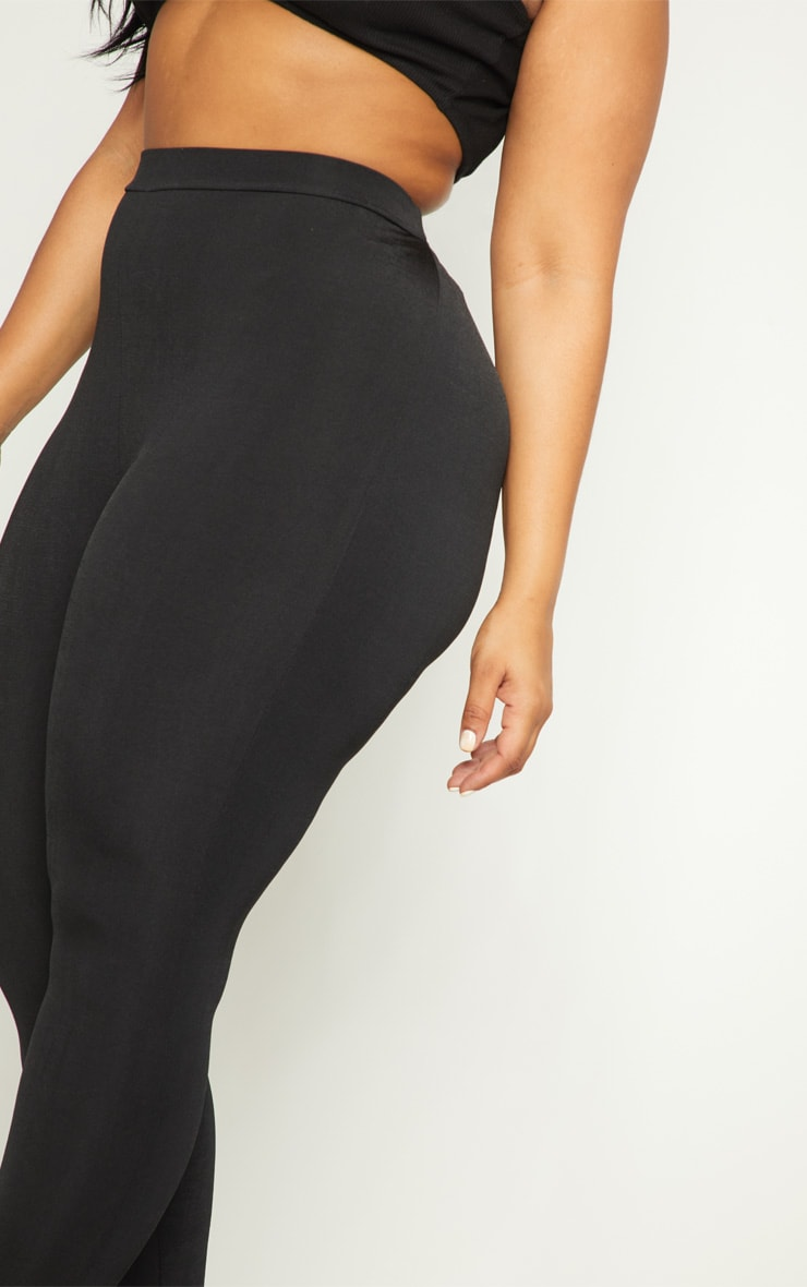 Plus Black Slinky High Waisted Leggings 5