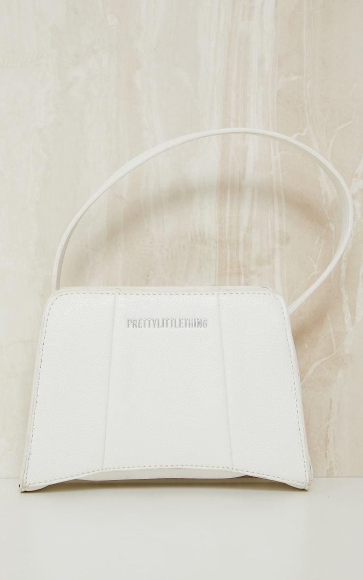 PRETTYLITTLETHING White Triangular Shoulder Bag 2