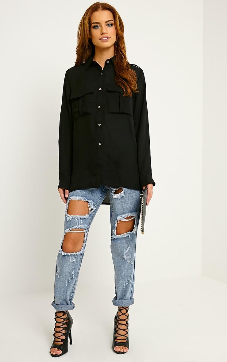 Bethan Black Utility Pocket Shirt 3