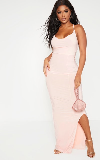 Shape Blush Slinky Cowl Neck Maxi Dress