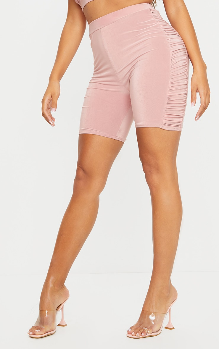 Shape Rose Slinky Ruched Side Detail Bike Shorts 2