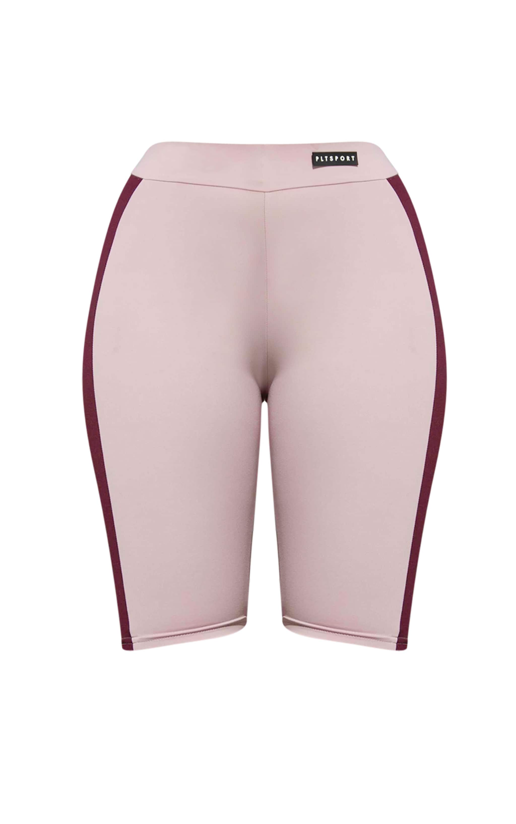 PRETTYLITTLETHING Lilac Sport Colour Block Cycle Short 3