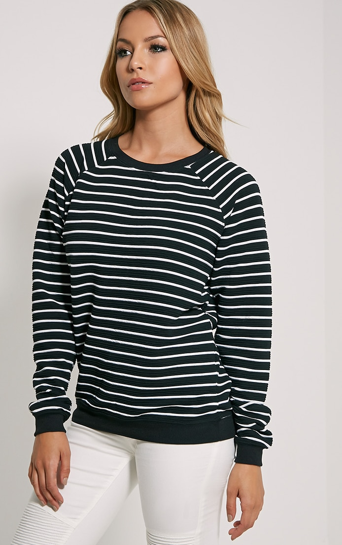 Louiza Black Stripe Jumper 4