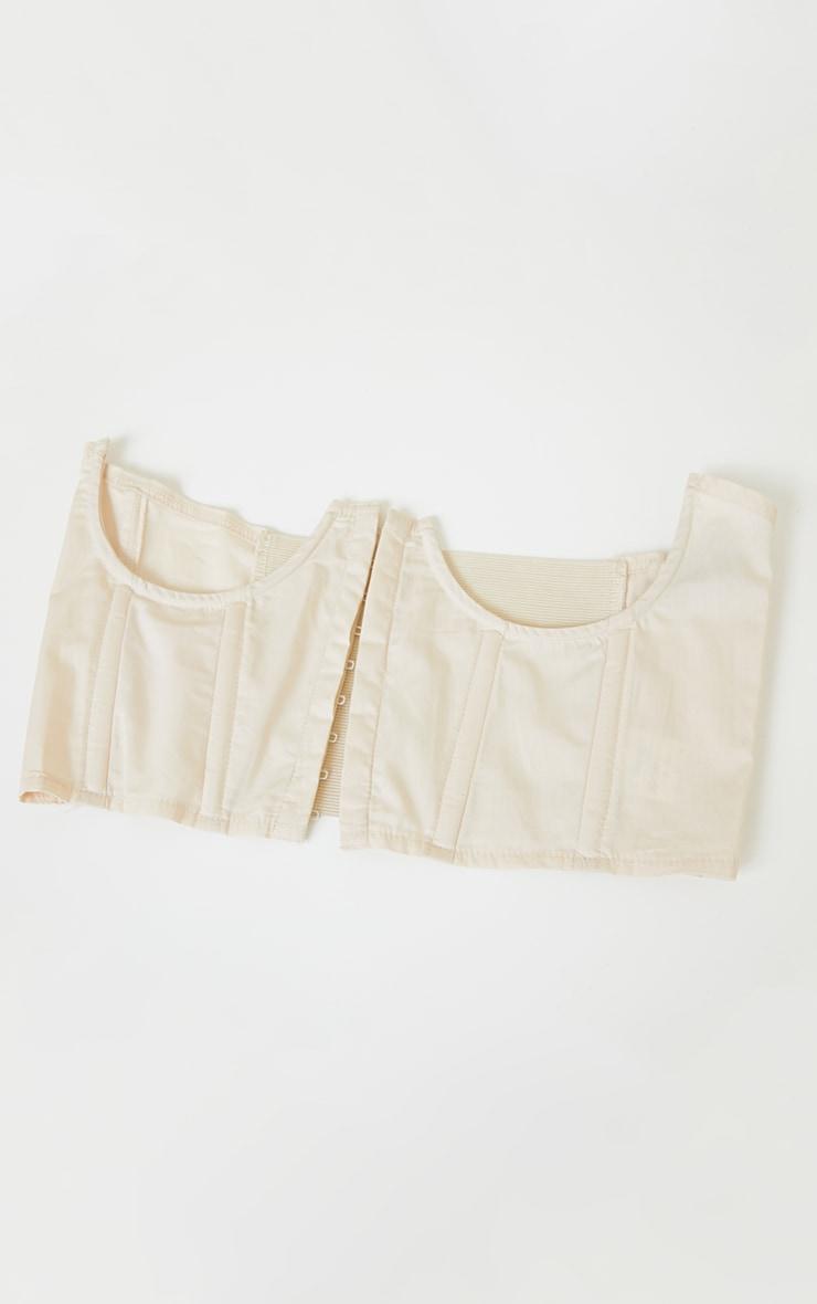 Cream Boned Cut Out Corset Belt 2