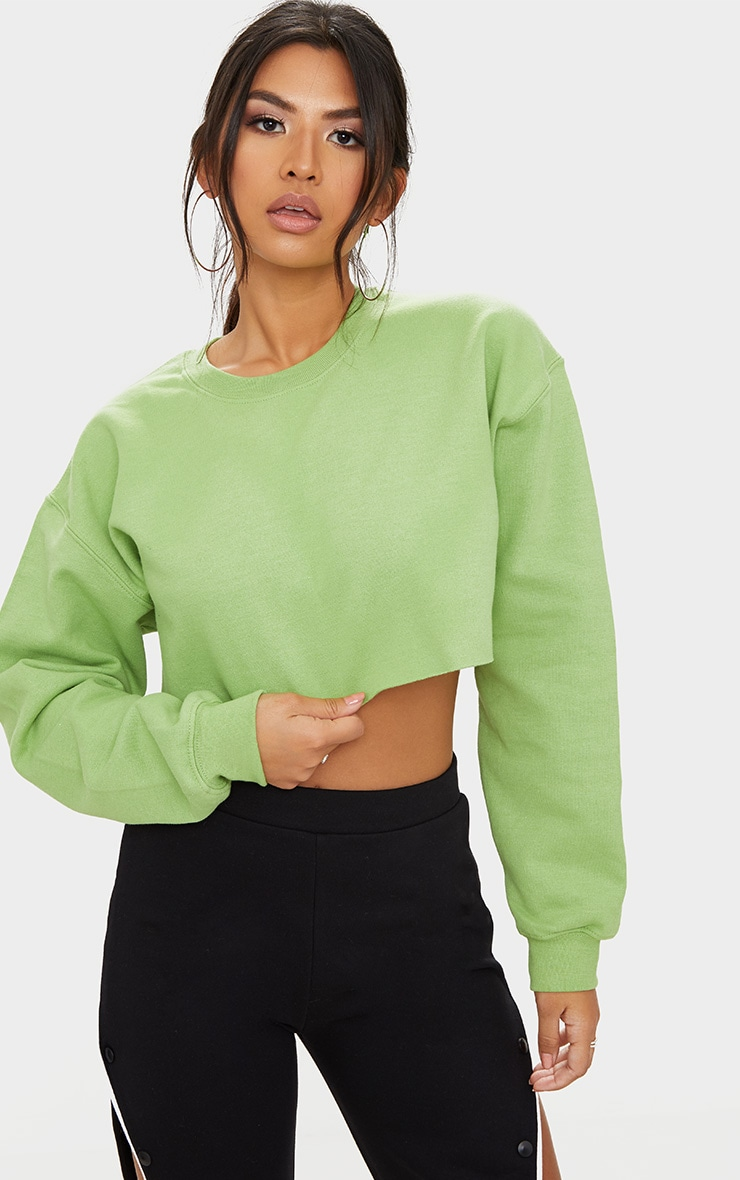 Sage Ultimate Cropped Sweater 1