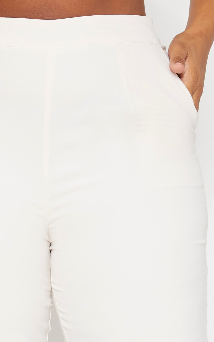 Plus Cream Tailored Pants 5