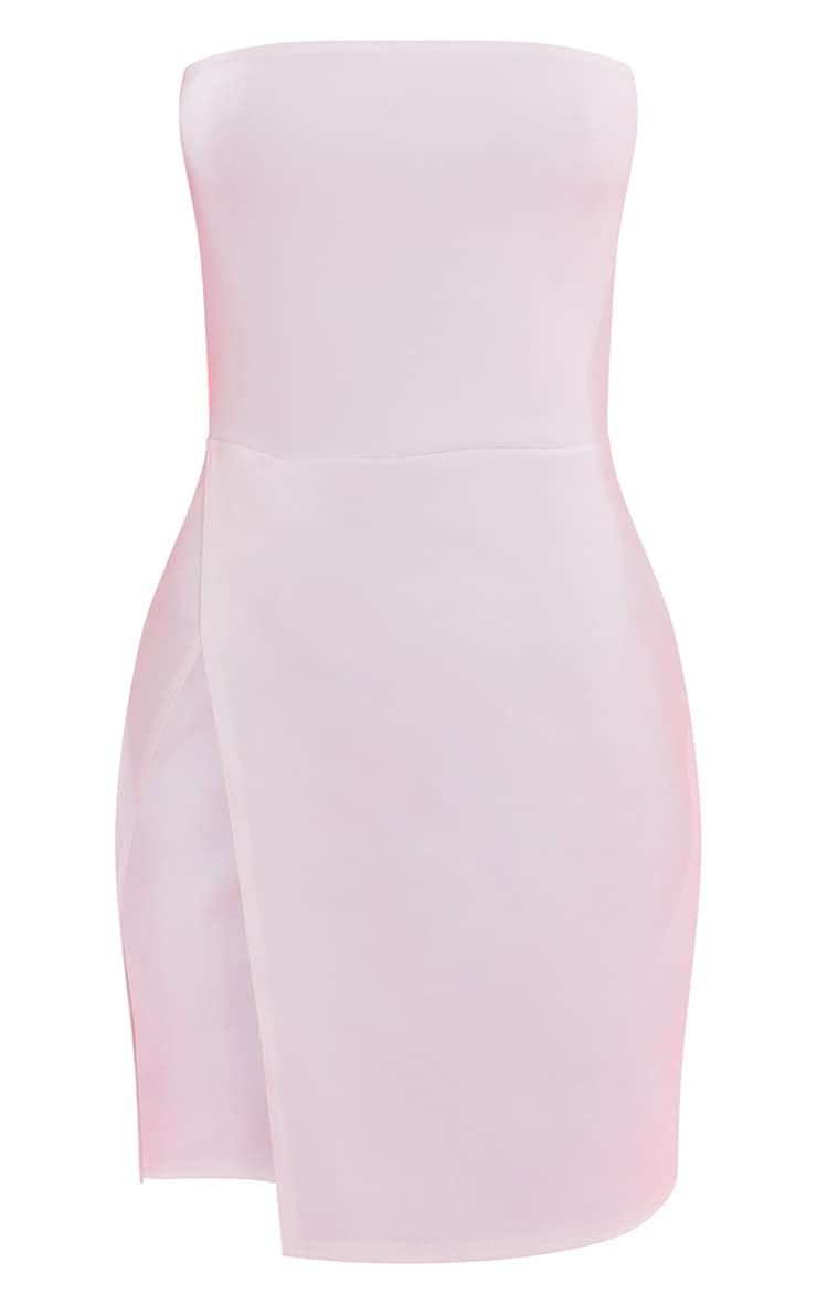 White Bandeau Extreme Split Bodycon Dress 4
