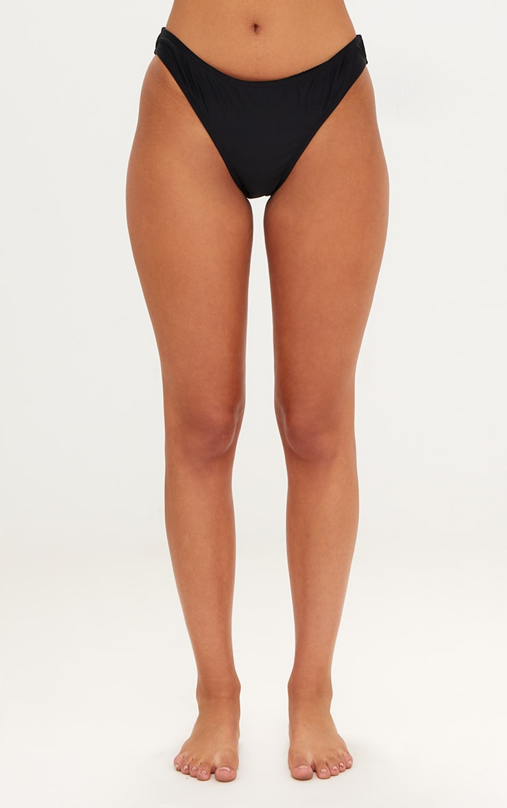 Mix & Match Black High Leg Bikini Bottoms 2