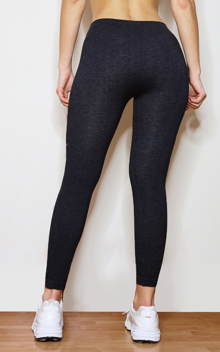 Black Basic Gym Leggings 3