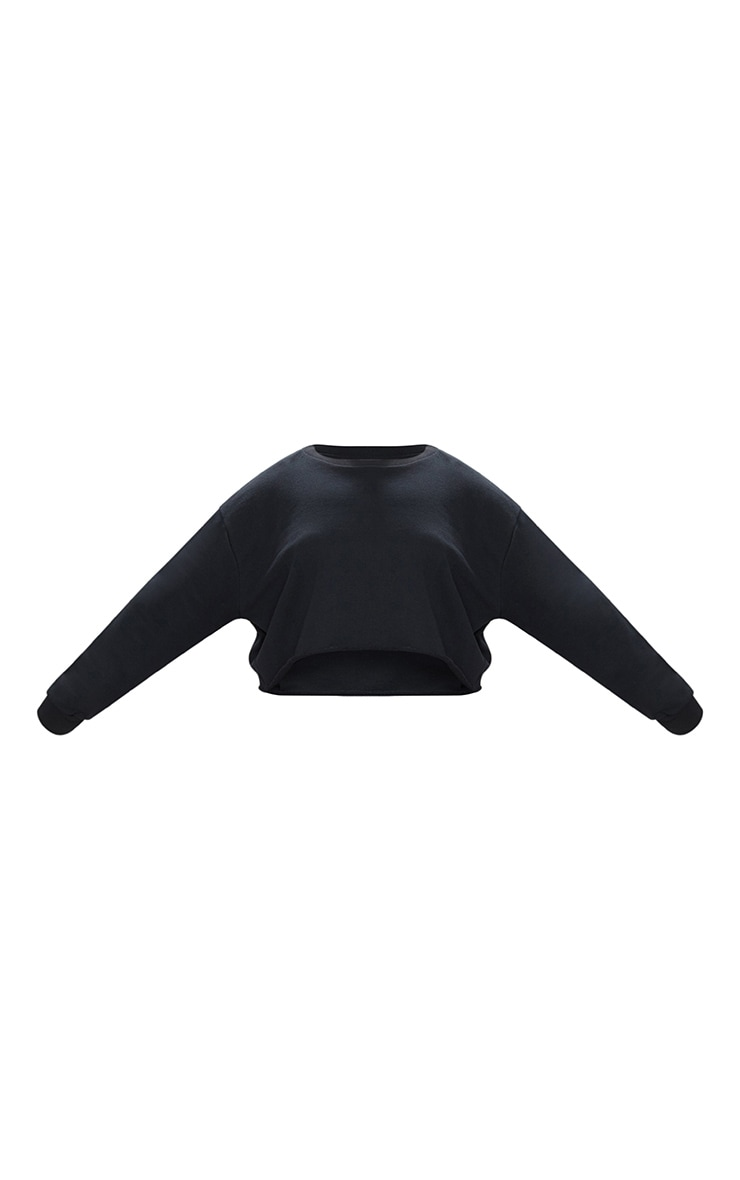 Plus Black Extreme Crop Sweater 3