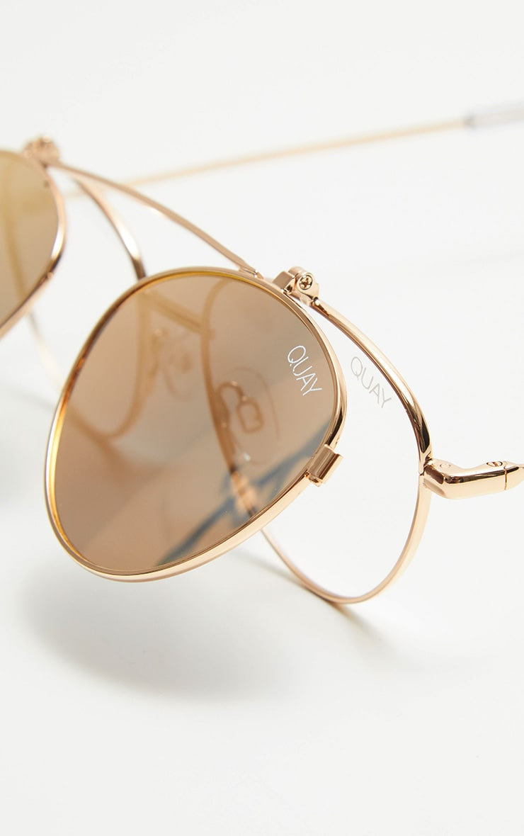 QUAY AUSTRALIA Rose  X Elle Ferguson  Collaboration Elle Sunglasses 4