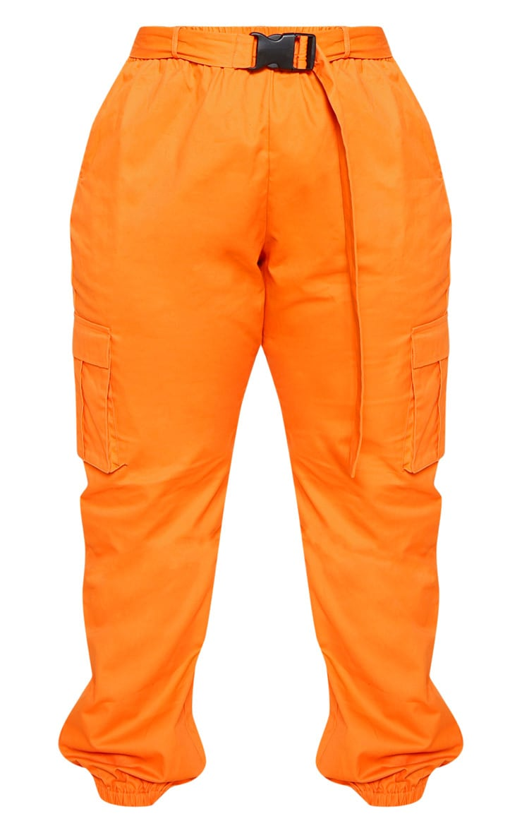 Plus Orange Utility Buckle Belt Joggers 3
