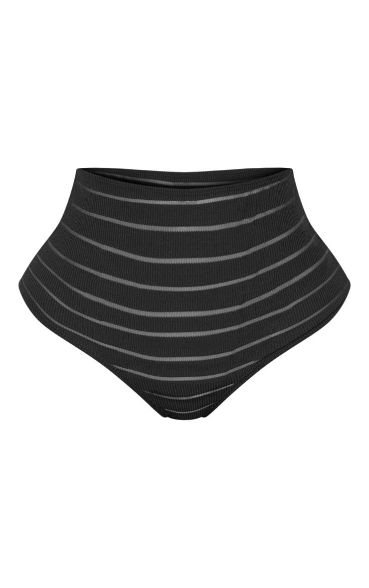Shape Black Burnout Mesh Panties 3
