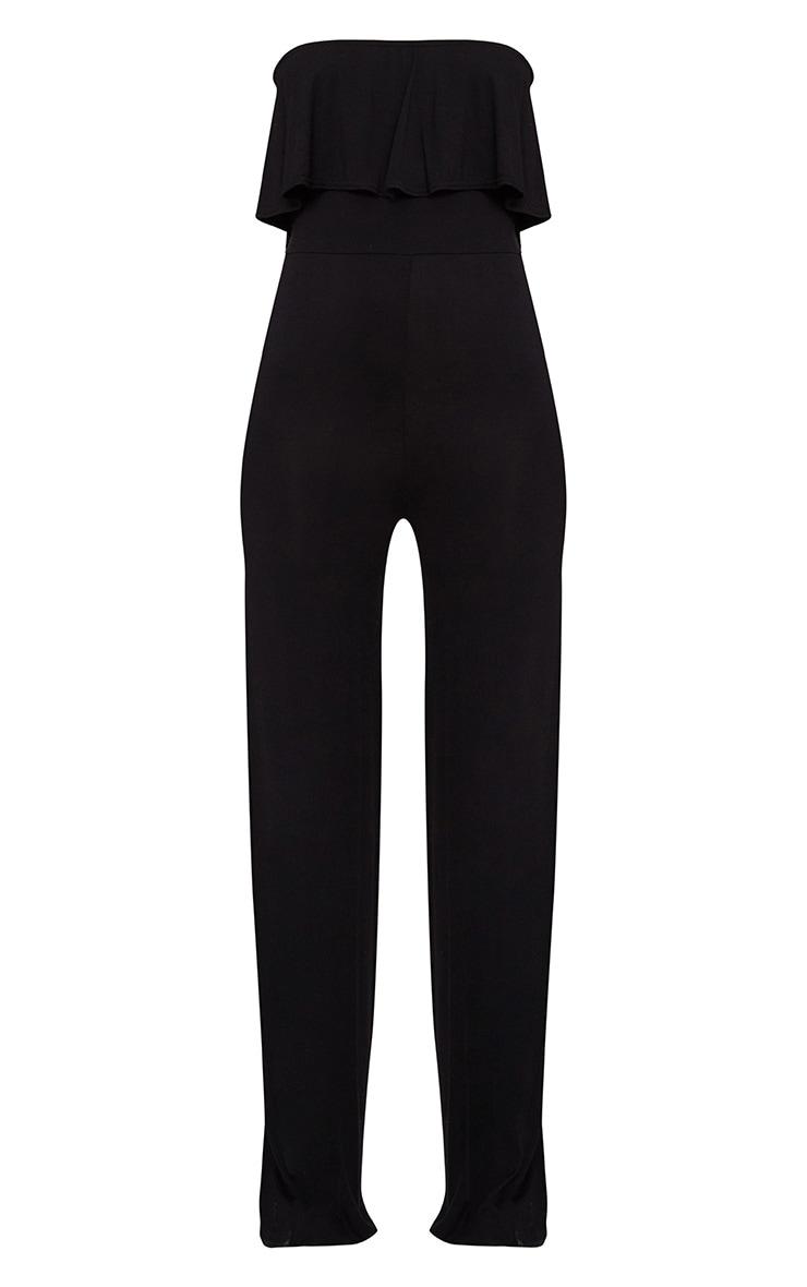 Black Jersey Bandeau Frill Jumpsuit 3