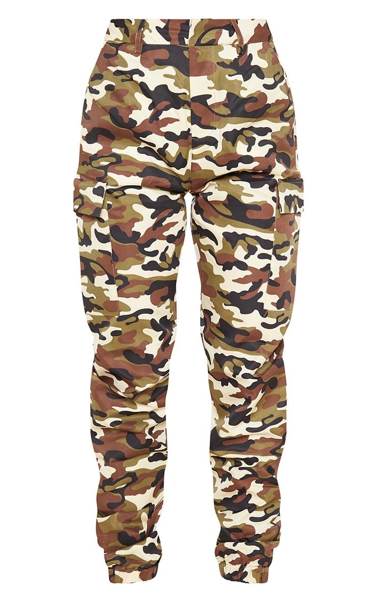 Pantalon cargo gris pierre imprimé camouflage 3