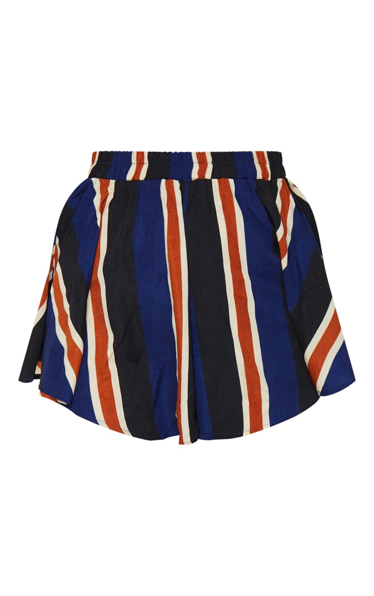 Navy Stripe Floaty Shorts 6