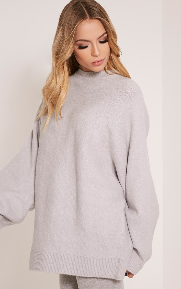 Raysa Silver Oversized Knitted Jumper 4