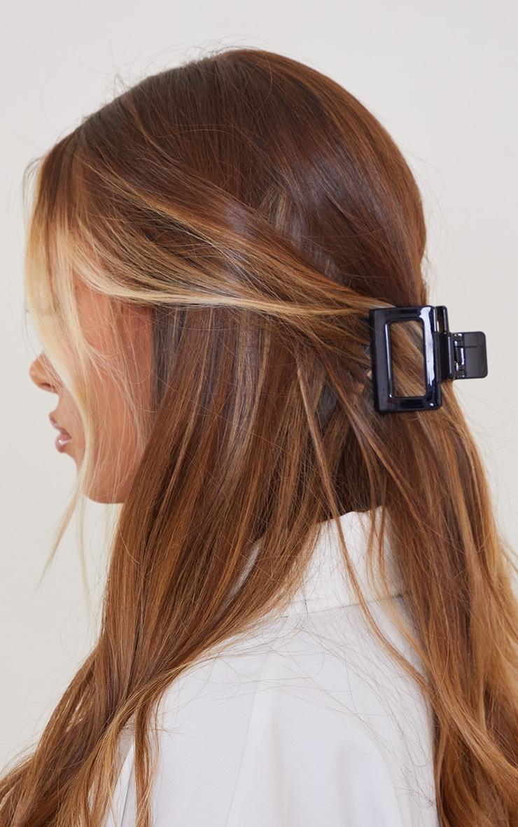 Black Square Cut Out Hair Clip 1