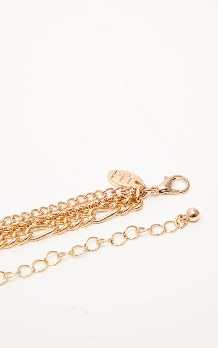 Gold Love Coin Layered Necklace 3