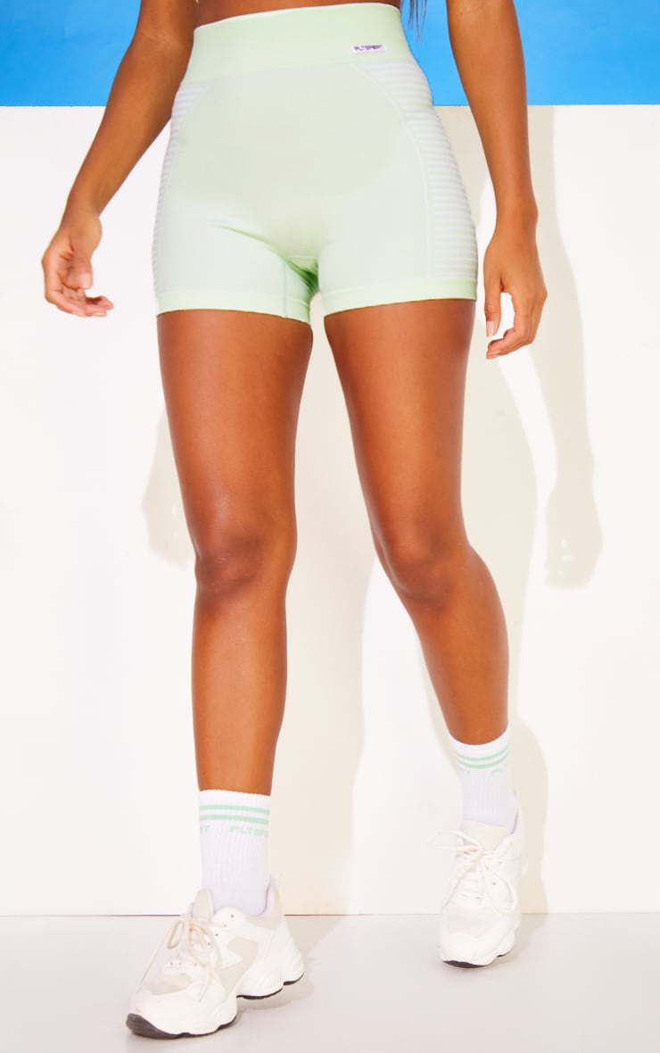 PRETTYLITTLETHING Mint Seamless Cycle Shorts 2