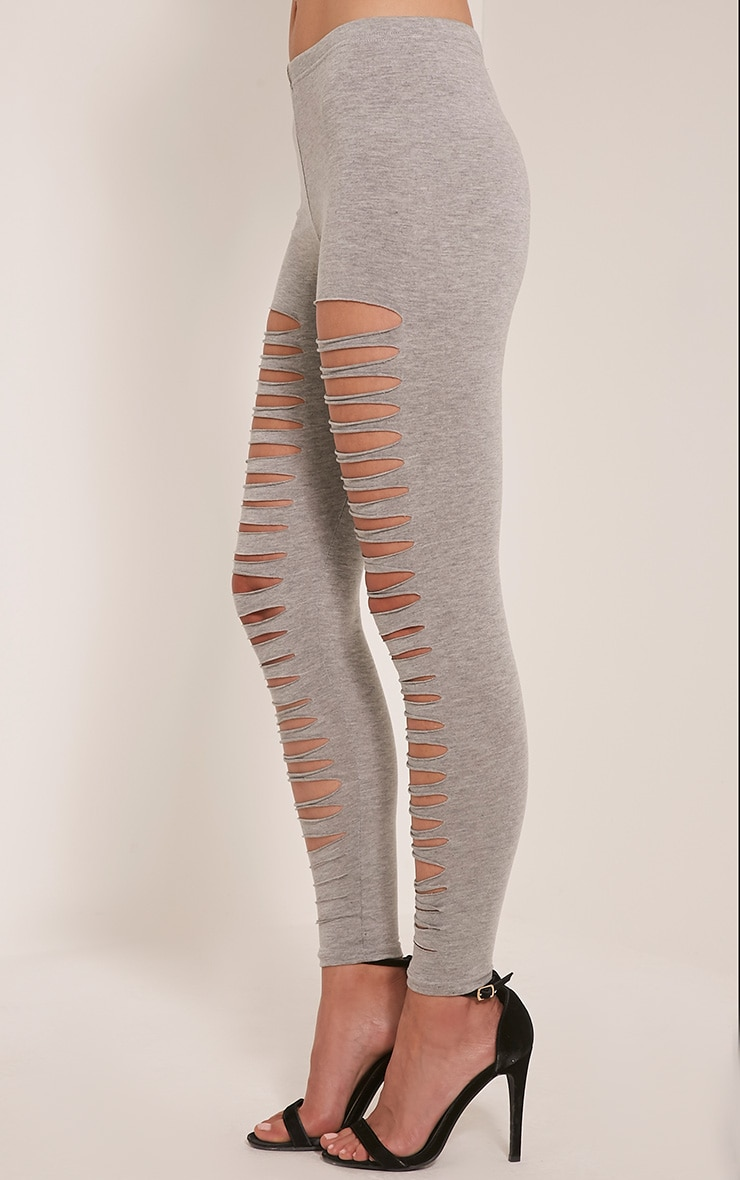 Sherry Grey Ripped Leggings 4