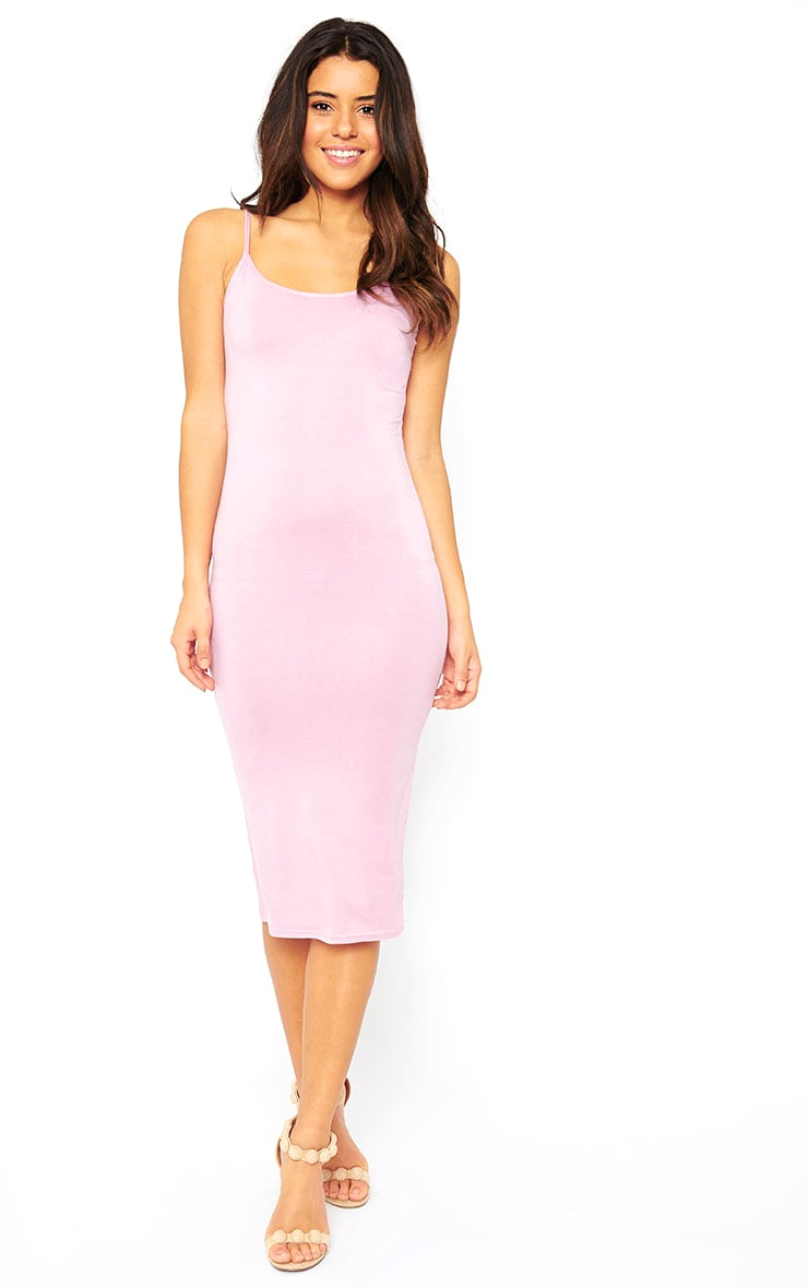 Basic Mauve Midi Vest Dress 1