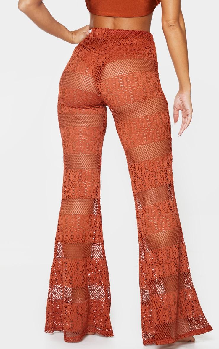 Brown Crochet Beach Flare 3