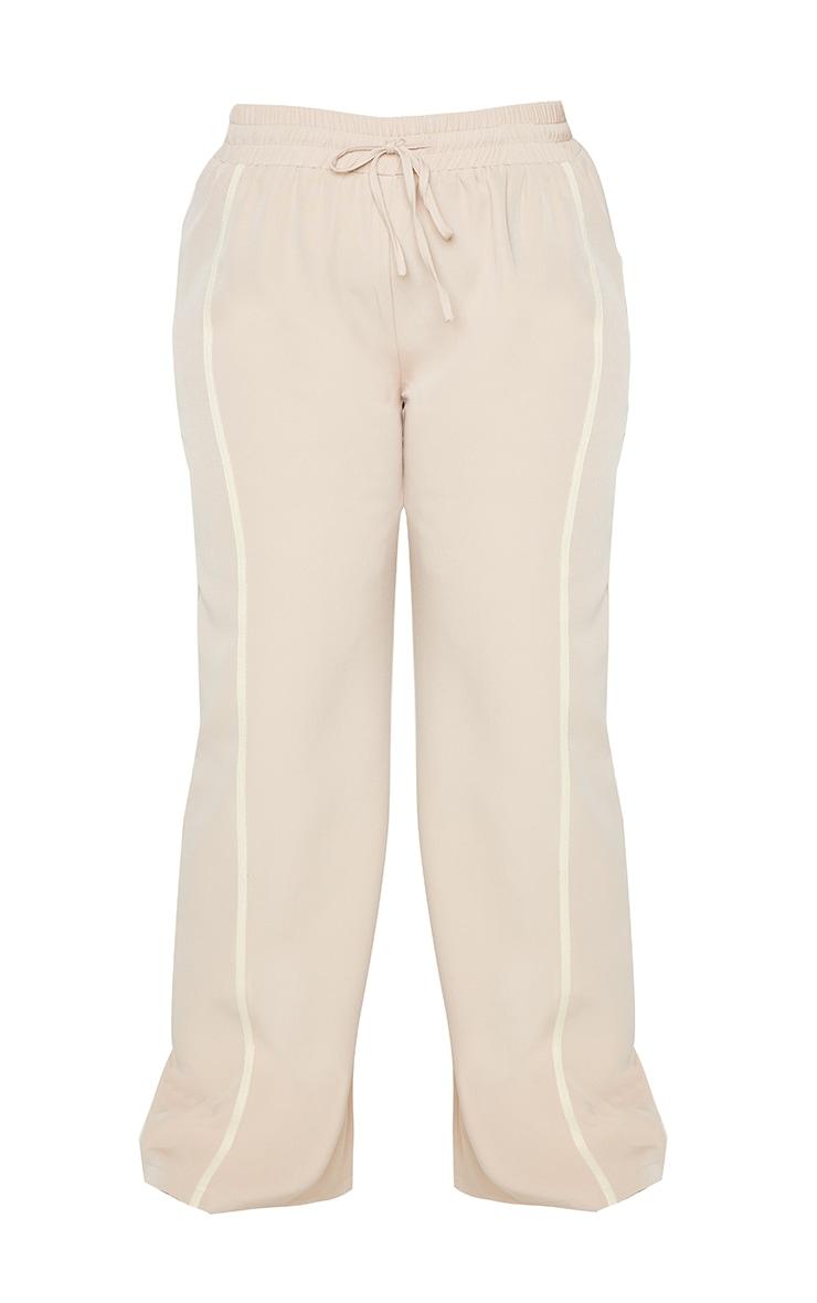 Plus Stone Stripe Detail Draw String Wide Leg Trousers 5