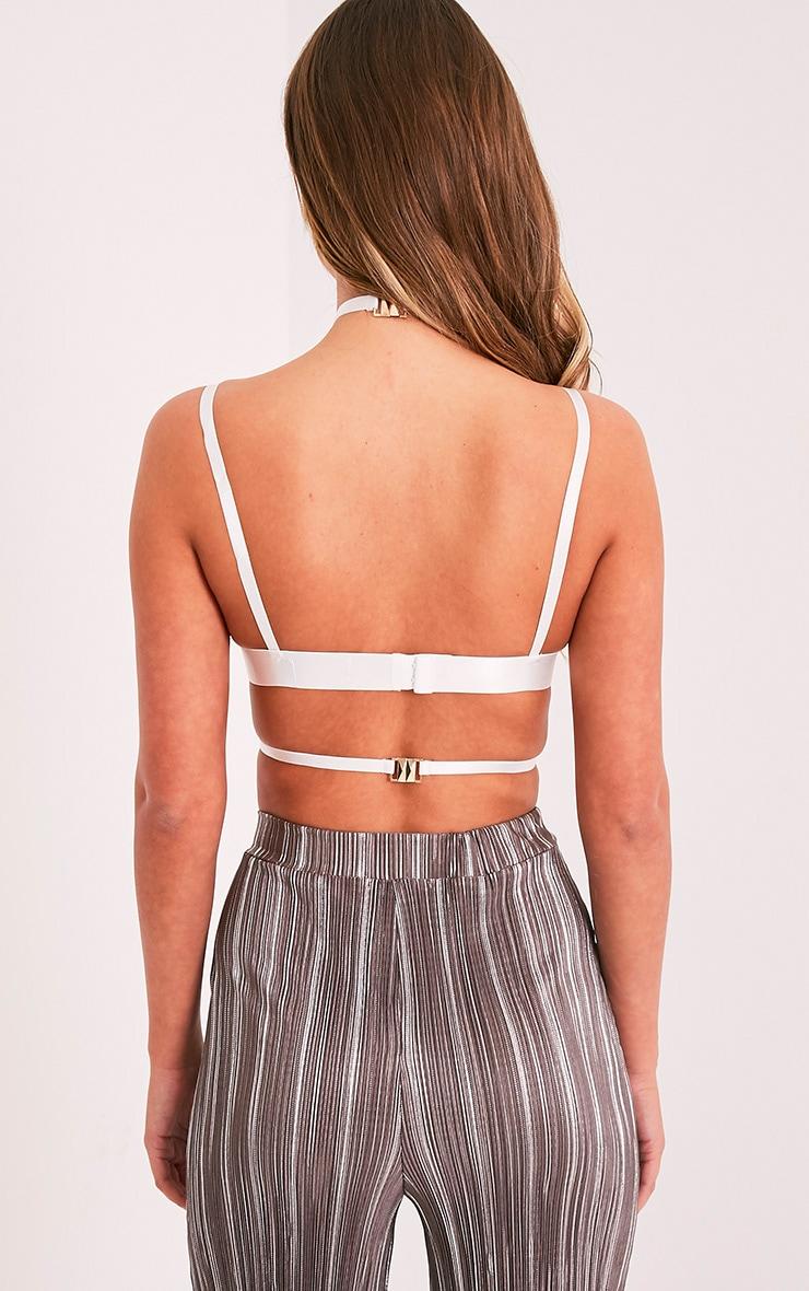 Kamilla White Harness Lace Bralet 2