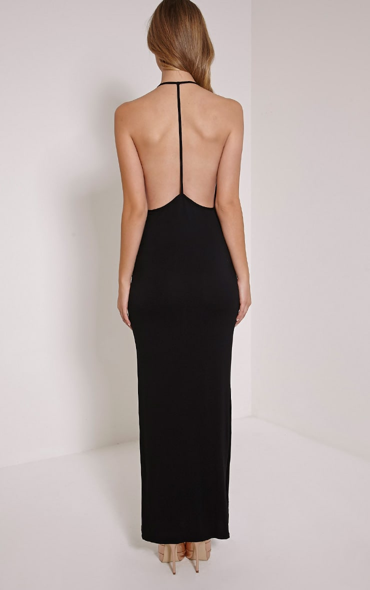 Basic Black T Bar Back Maxi Dress 2