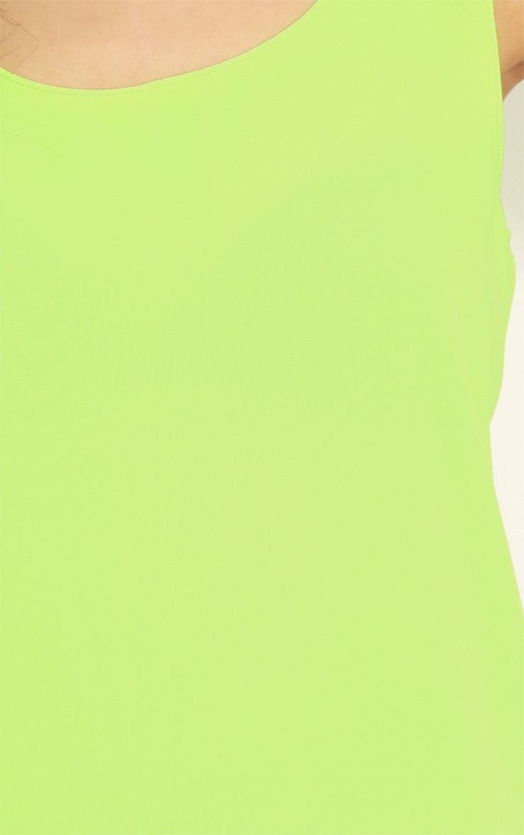 Kylee Neon Lime Silk Effect Vest 5