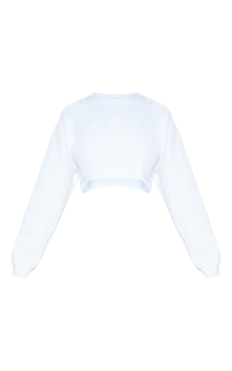 White Ultimate Cropped Sweater 3