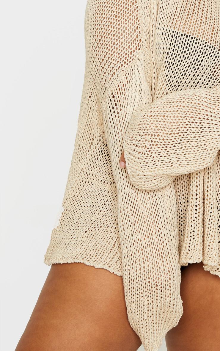 Plus Stone Fisherman Knit Sweater 4
