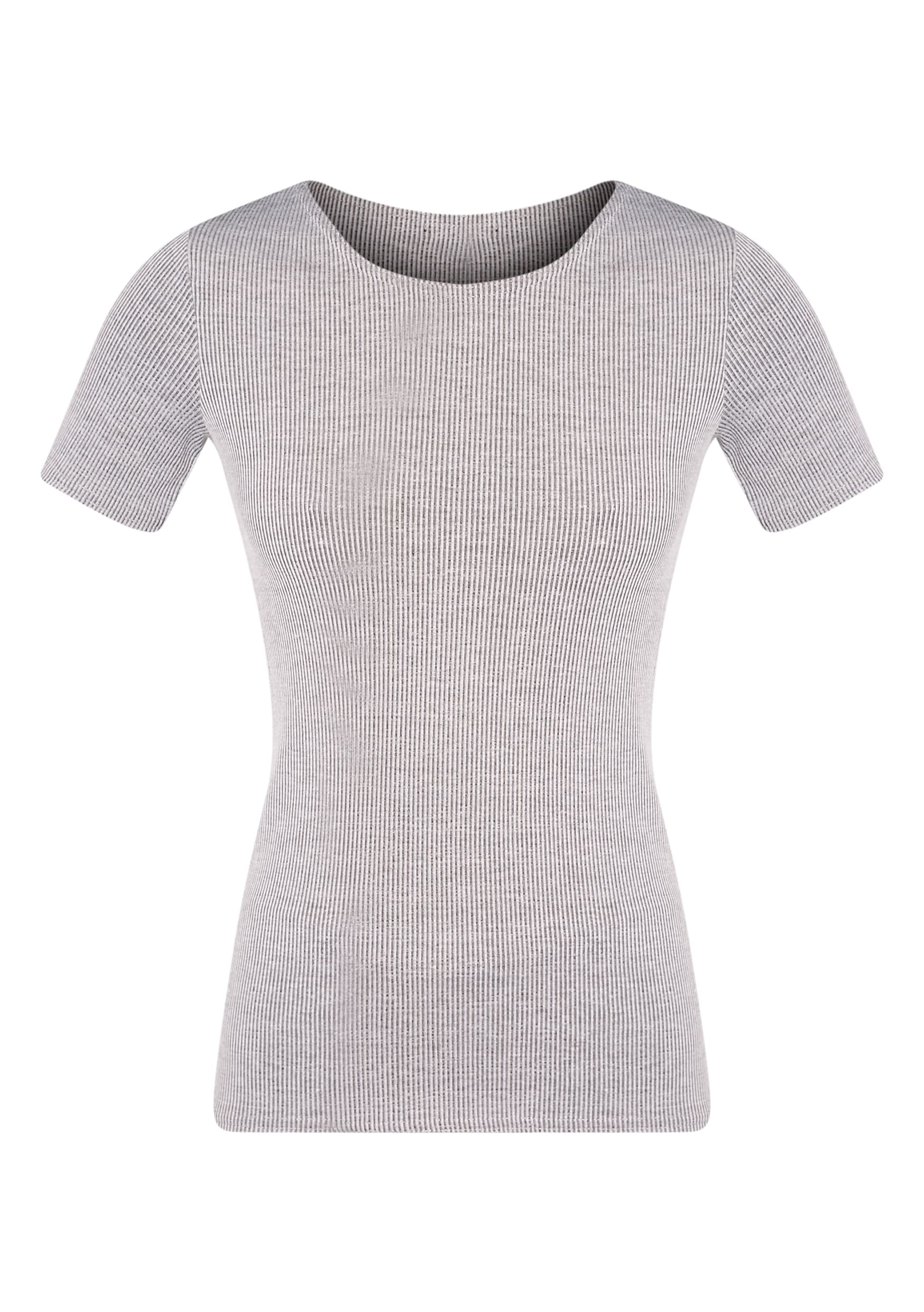 Rosie Grey Fine Ribbed T-Shirt 3