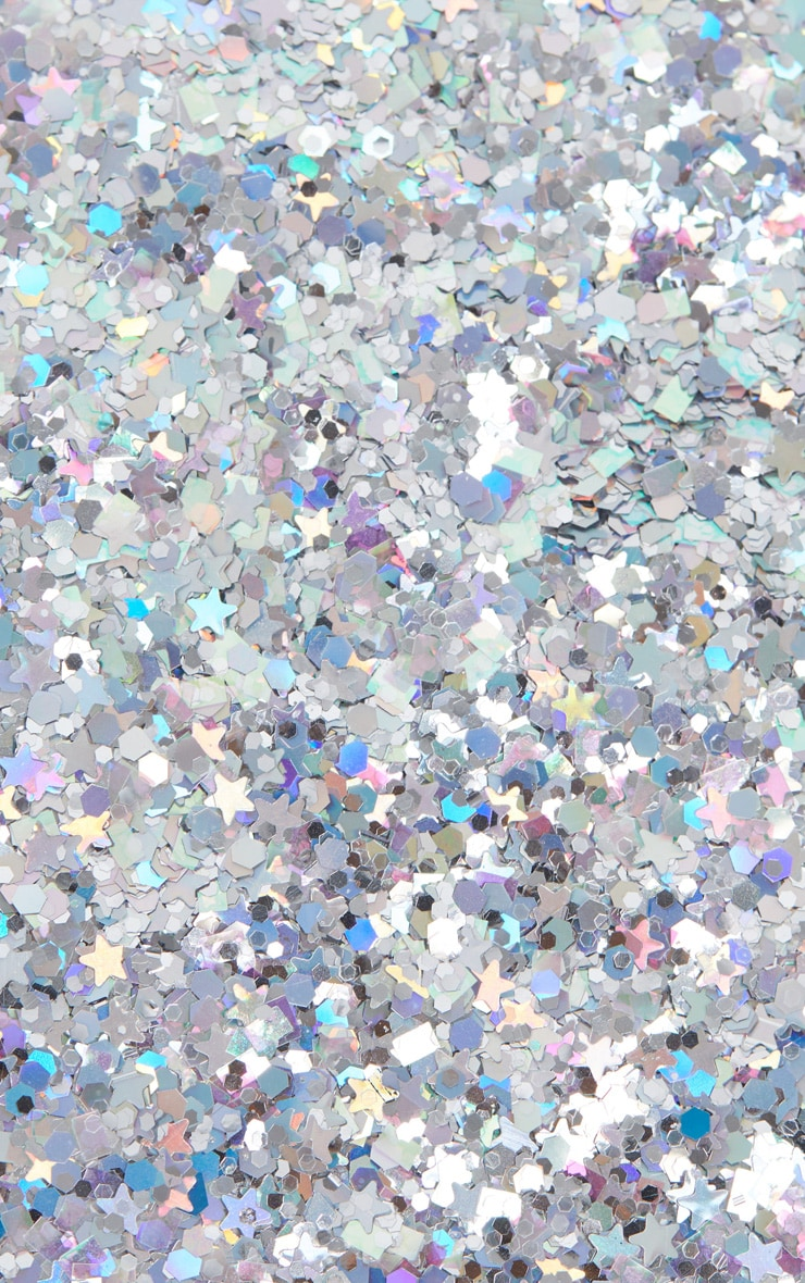 PRETTYLITTLETHING Chunky Silver Cosmic Glitter 1