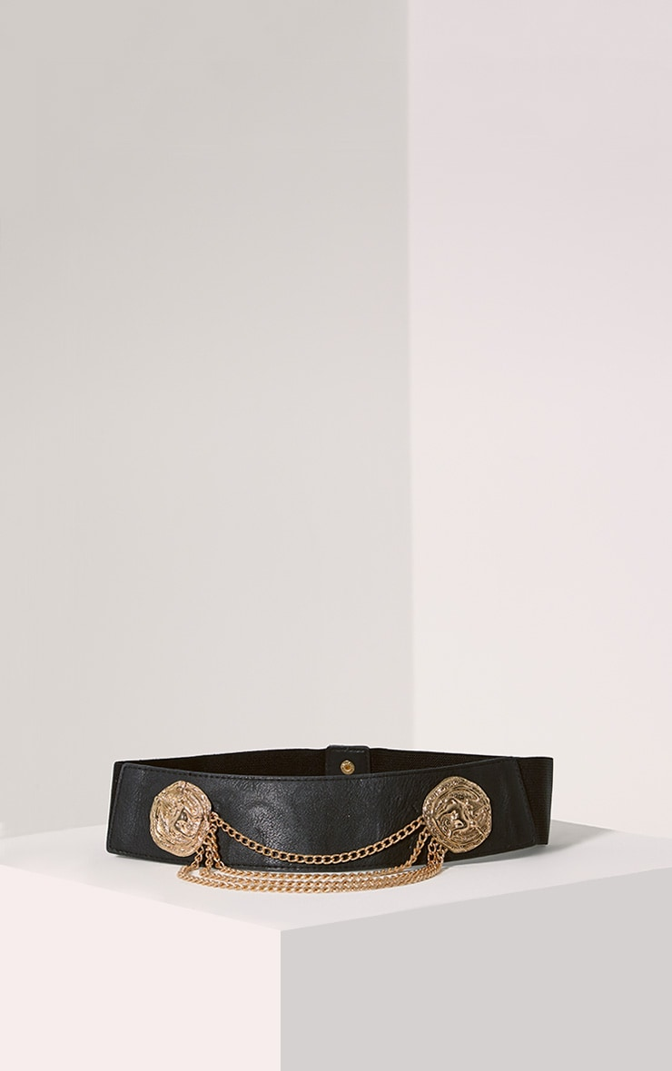 Erika Gold Drop Chain Belt 1