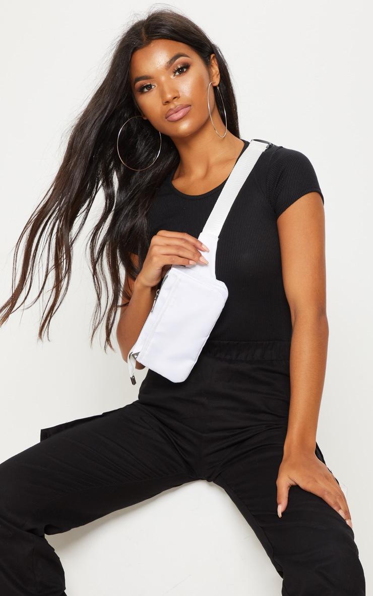 Black Rib Short Sleeve T Shirt 4