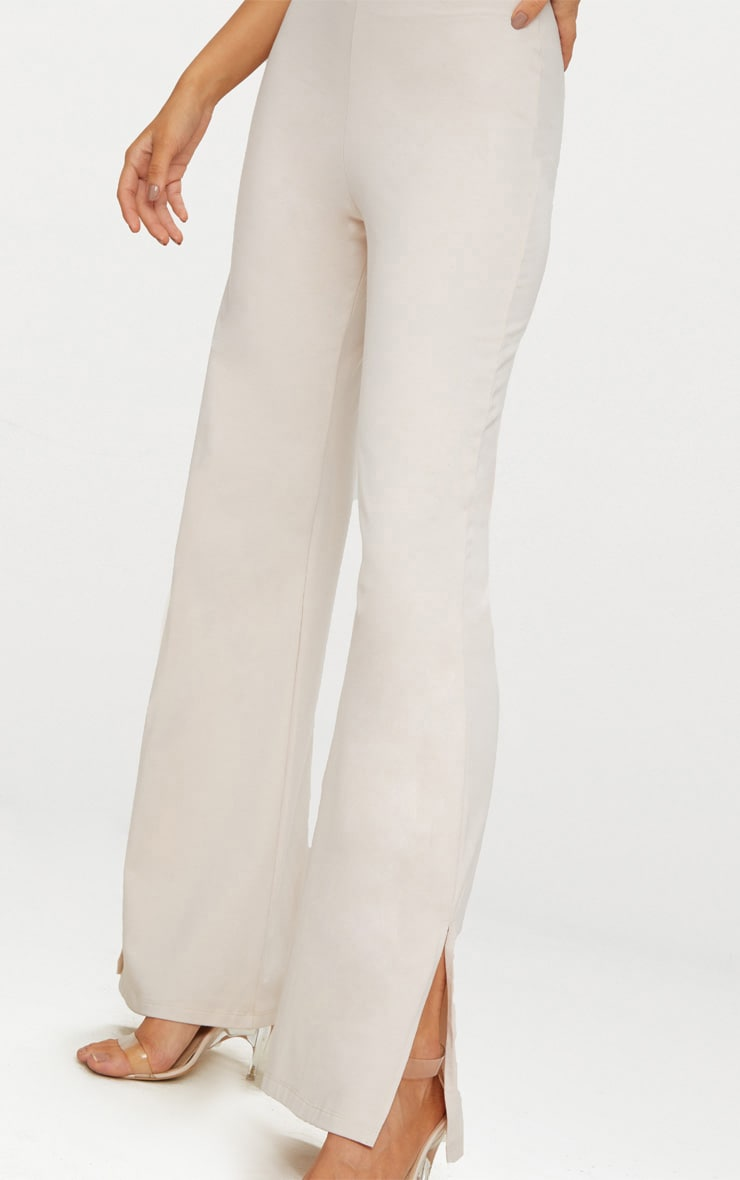 Cream Second Skin Flared Trousers 5