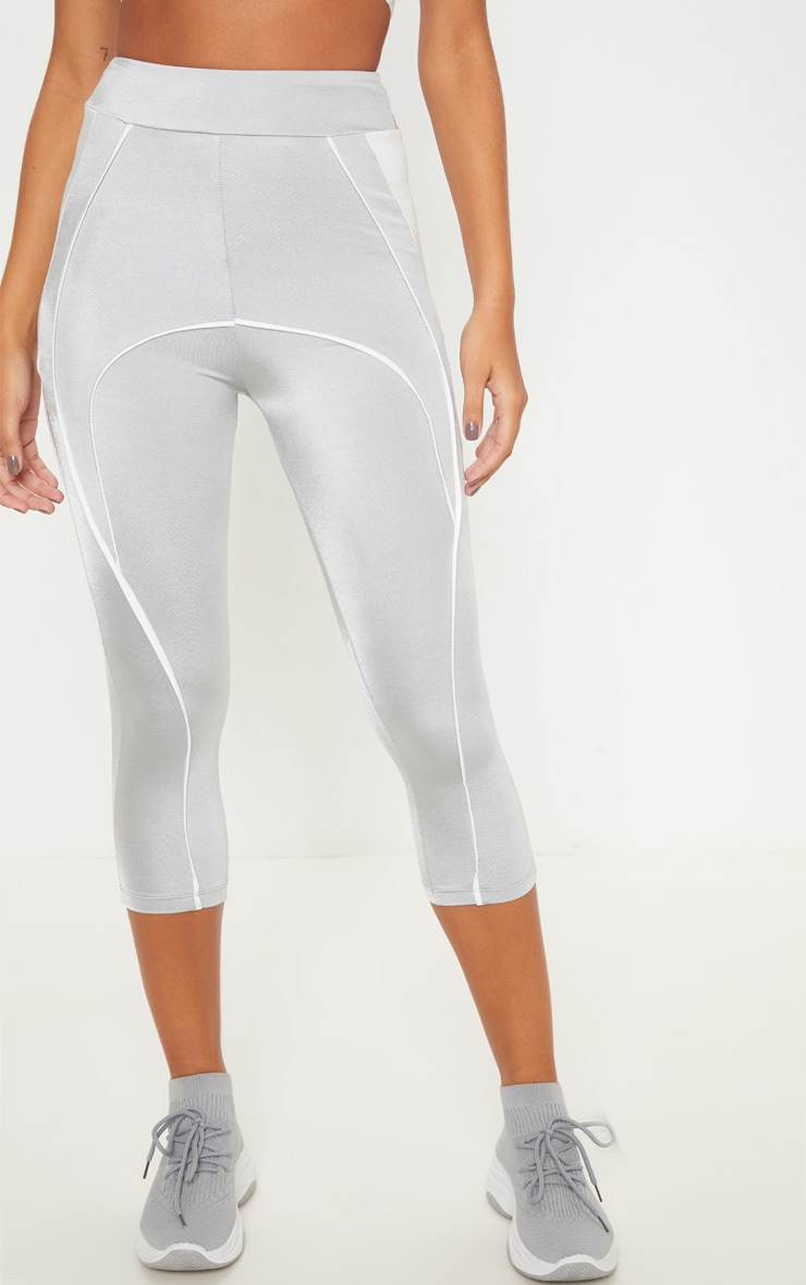 Grey Contrast Legging 2
